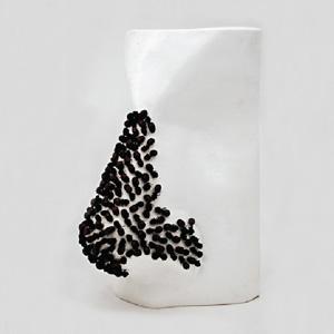 escultura nas amb mosques negres