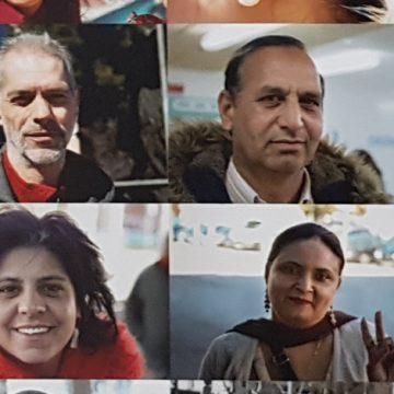 retrats dels veïns que han participat a l'expo