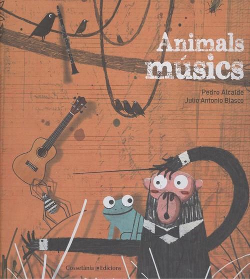 portada llibre anials musics amb il3lustració animals i títol llibre